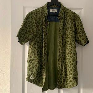 10.Deep Leopard Short Sleeve Button Up